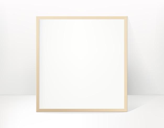 Moldura quadrada com interior claro
