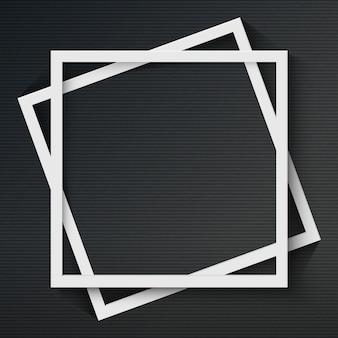 Moldura quadrada com sombra no fundo escuro