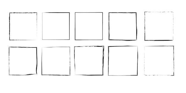 Moldura quadrada de grunge elemento de design de moldura suja para cartão de mensagem de convite de banner