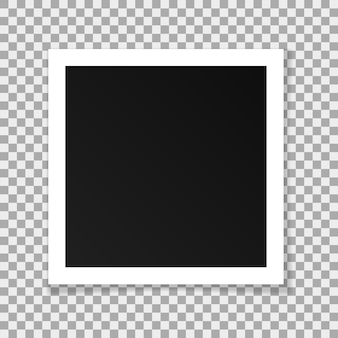 Moldura quadrada de papel de vetor isolada em fundo transparente
