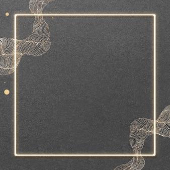 Moldura quadrada dourada brilhante
