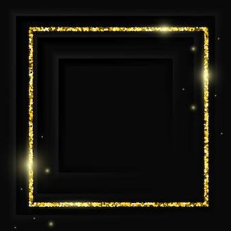 Moldura quadrada dourada