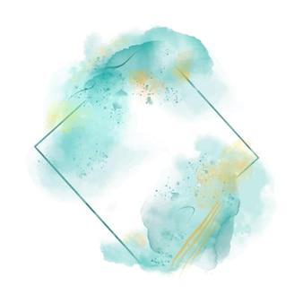 Moldura quadrada em aquarela abstrata