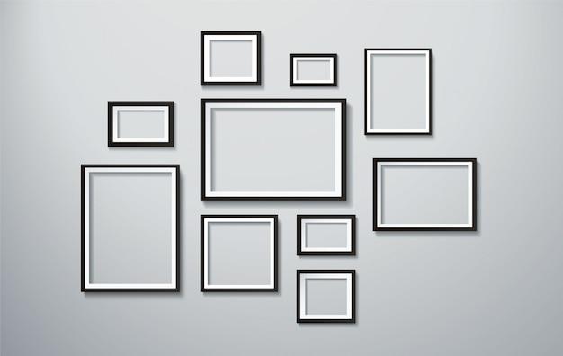 Moldura quadrada isolada na parede