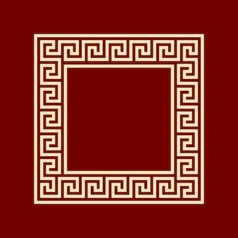 Moldura quadrada meandro ansient padrão