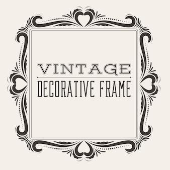 Moldura quadrada vintage vitoriana estilo vitoriano