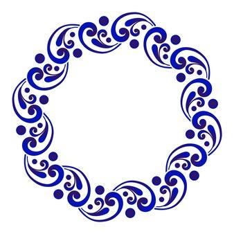 Moldura redonda chinesa