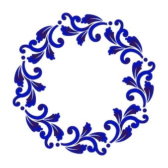 Moldura redonda com borda decorativa