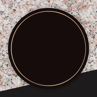 Moldura redonda em fundo de mármore