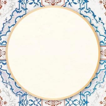Moldura redonda ornamental vintage