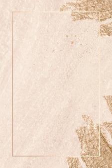 Moldura retangular de ouro no vetor de fundo de textura