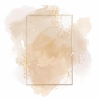 Moldura retangular em aquarela abstrata