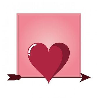 Moldura romântica com coração