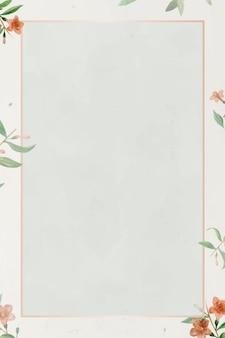 Moldura rosa com fundo de padrão de azaléia chinesa
