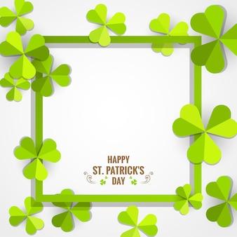Moldura verde do trevo para o cartão do dia de são patrício