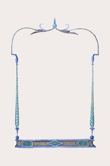 Moldura vintage azul com espaço de design