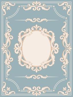 Moldura vintage ornamental