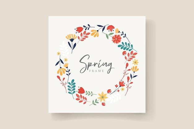 Molduras coloridas com tema de flores da primavera