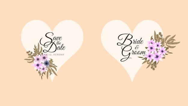 Molduras de flores de rótulo vintage em anúncios de vendas de convites de estilo detalhado