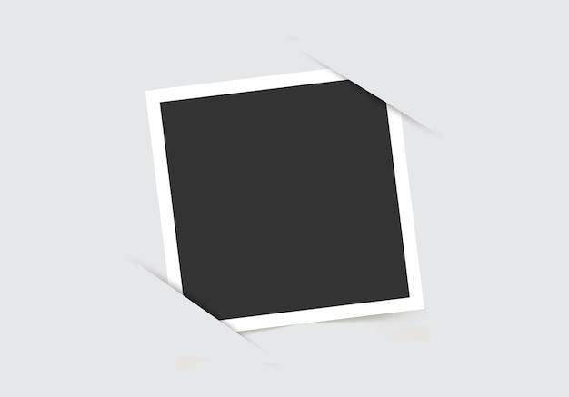 Molduras de foto. modelo para suas fotos isoladas.