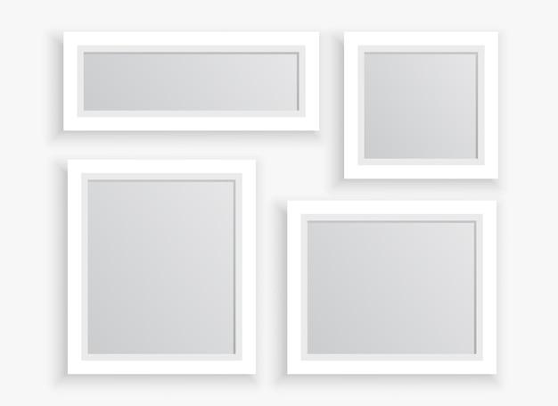 Molduras de fotos em tamanhos diferentes