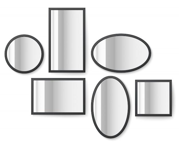Molduras de imagem com superfície de reflexão do espelho
