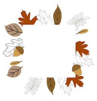 Molduras de outono para design de papel de parede