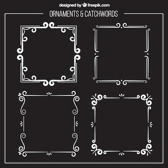 Molduras de prata ornamentais
