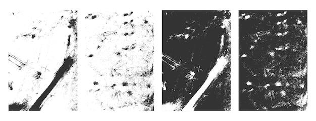 Molduras de textura grunge retangular conjunto de fundo