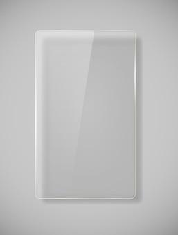 Molduras de vidro realistas. ilustração vetorial