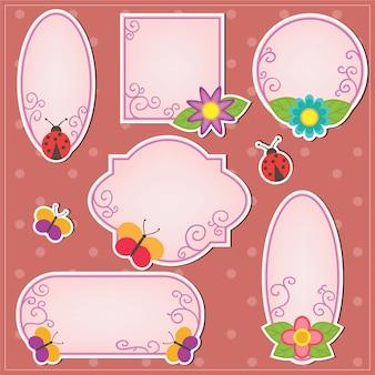 Molduras doodle bonitas