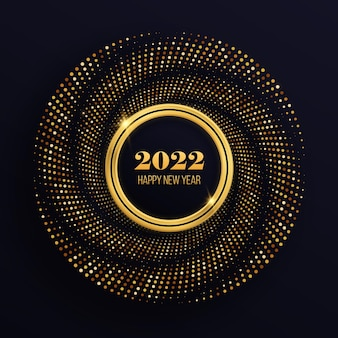 Molduras douradas brilhantes com luxuosos pontos brilhantes círculo festivo para design gráfico