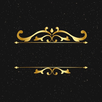 Molduras douradas elegantes vintage