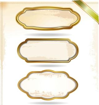 Molduras douradas em estilo vintage