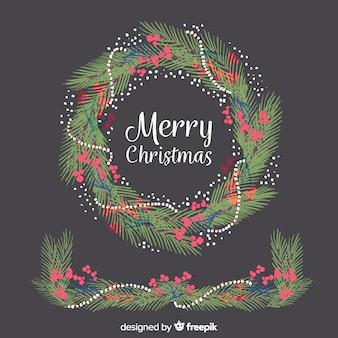Molduras e bordas de natal em aquarela