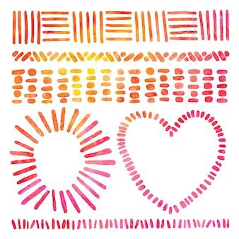 Molduras e bordas em aquarela tie-dye