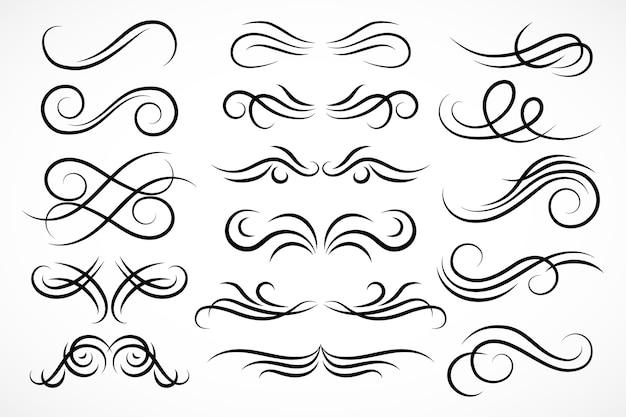 Molduras e elementos decorativos caligráficos