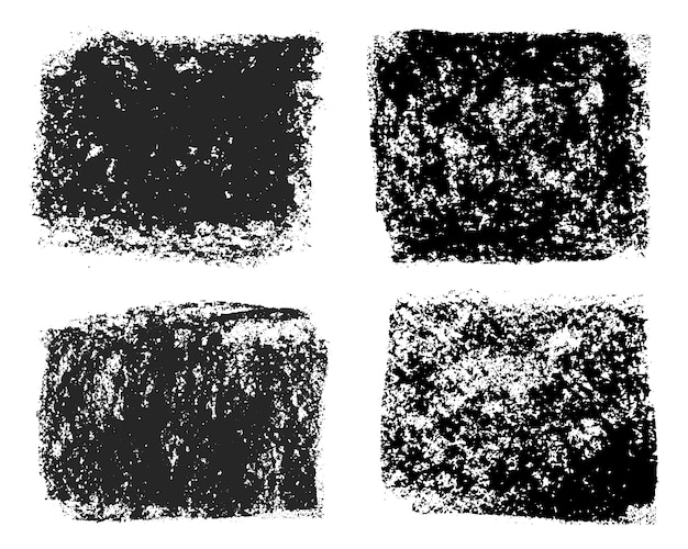 Molduras grunge pretas abstratas