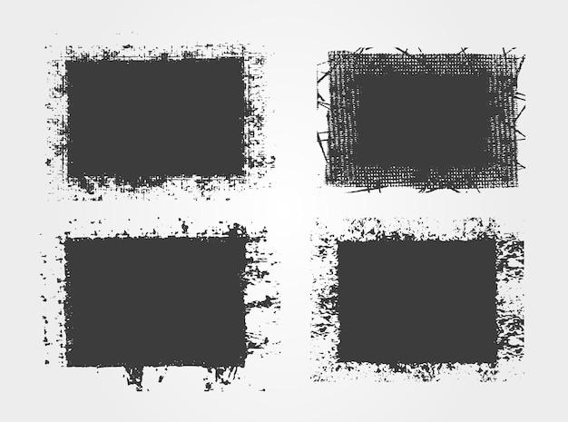 Molduras grunge preto desgastado
