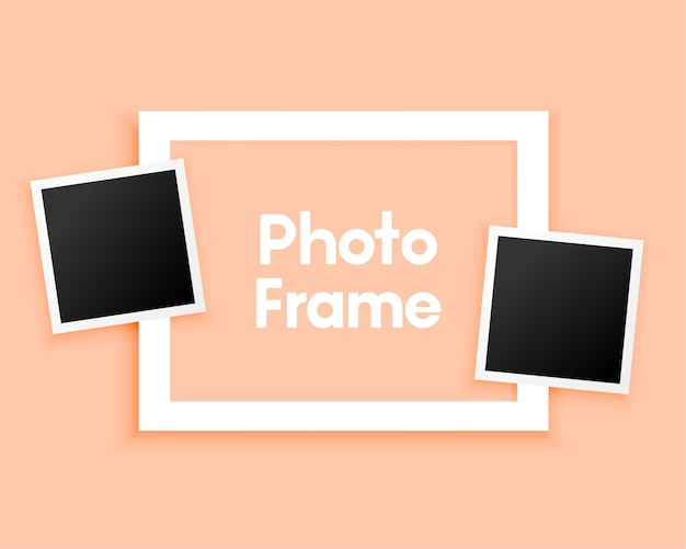 Molduras mínimas de fotos em pastel