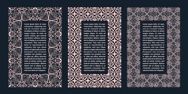 Molduras orientais design árabe