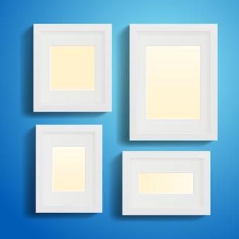 Molduras ou quadros modernos com sombras