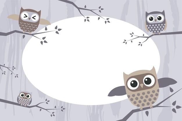 Molduras para fotos com corujas engraçadas