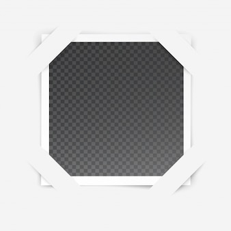 Molduras para fotos com efeito especial transparente isolado dentro da moldura