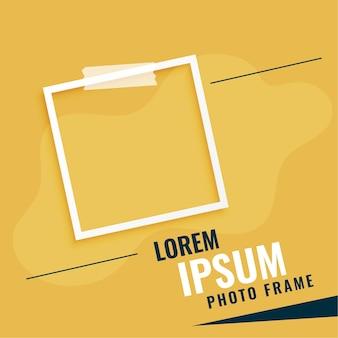 Molduras para fotos com fundo abstrato