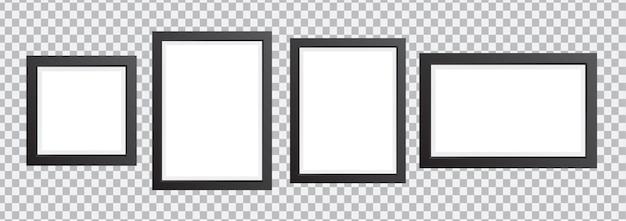 Molduras para fotos de parede em diferentes tamanhos molduras para fotos em fundo transparente