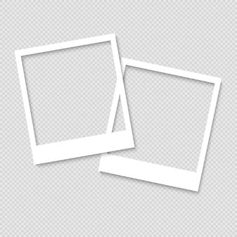 Molduras para fotos em branco. modelo de design