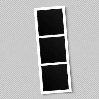 Molduras para fotos em branco.
