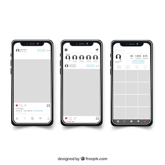 Molduras para fotos instagram plana