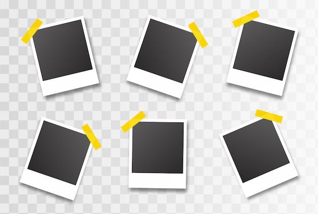 Molduras para fotos isolada. ilustração vetorial